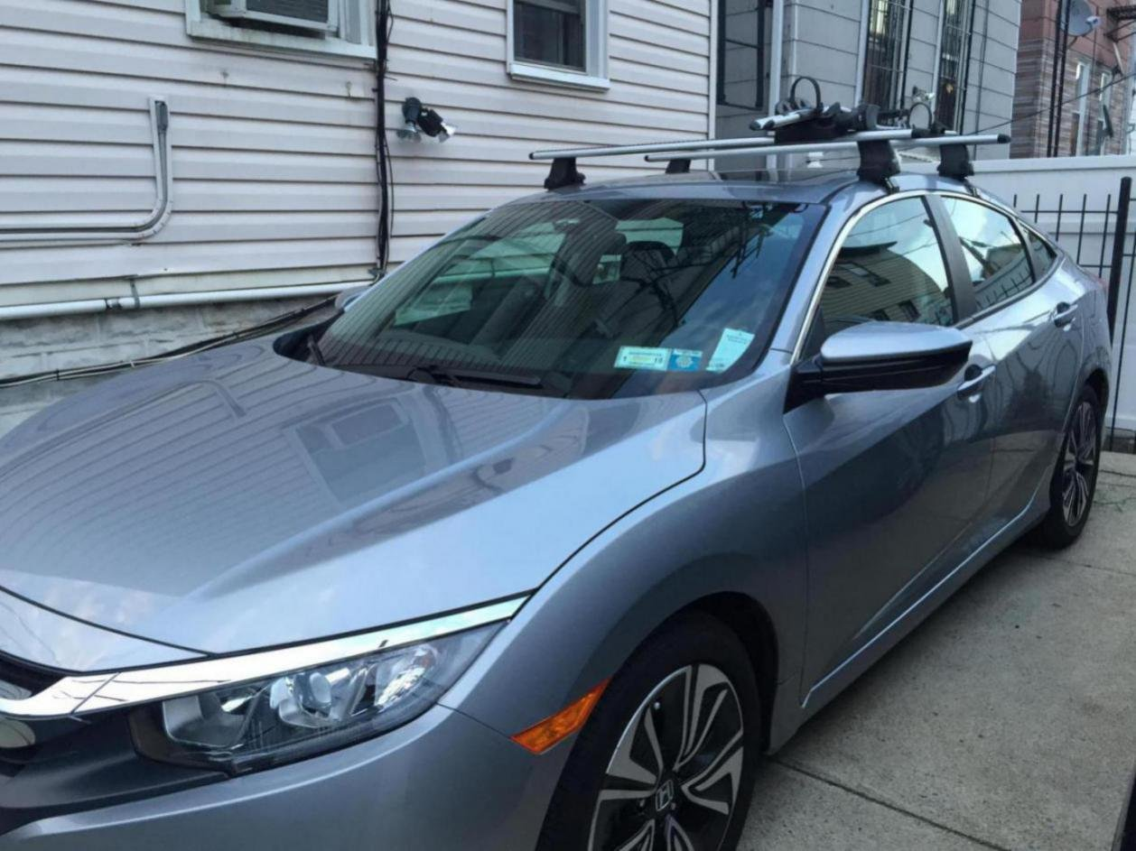 My Ex T With Thule Roof Rack Bike Carrier 10th Gen Civic Forum